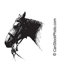 sketching of the horse