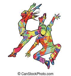 Sketching of two jazz dancer