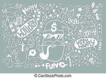 sketchy, מחברת, חג המולד, hand-drawn, doodles-