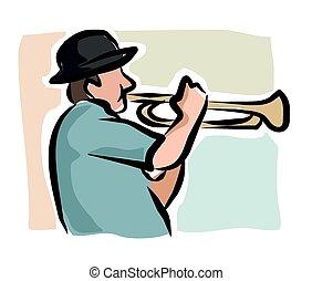 sketchy, トランペット奏者