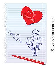sketchy, angelo, scheda, hand-drawn