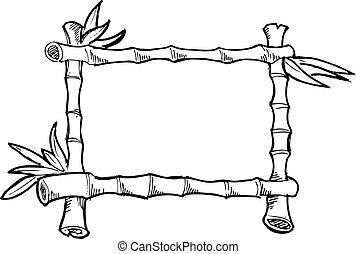 sketchy, bambou, cadre
