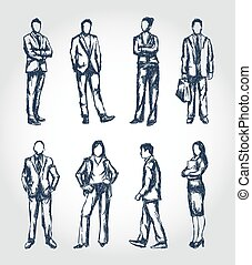 Sketchy business people