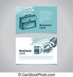 sketchy, carte affaires