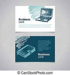 sketchy, carte, business