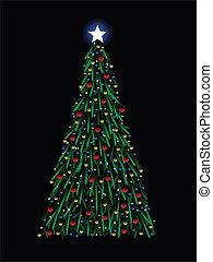 Sketchy Christmas tree