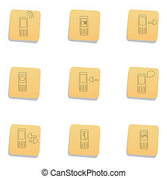 sketchy communication icons
