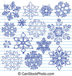 Sketchy Doodle Snowflakes