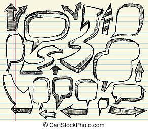Sketchy doodle vector Set