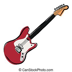 Sketchy electric guitar