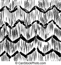 Sketchy hand drawn abstract seamless pattern