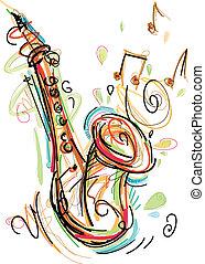 sketchy, saxofone