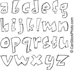 Sketchy small letters