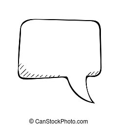sketchy speech bubble, vector doodle illustartion