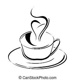 sketchy, tasse à café