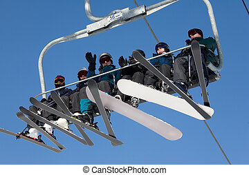 ski, 026, aufzug