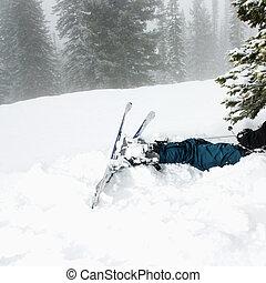 Ski accident.
