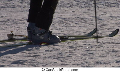 ski boot 01 - Getting ready for skiing - fastening the boots