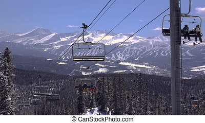 Ski Chairlift with Slopes - Beyond the ski chairlift lies...