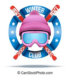 Ski club or team badges and labels - Ski club or team....