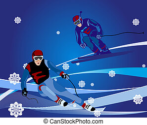 ski-cross, illustratie