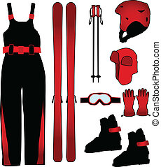 Ski equipment - work vector