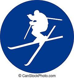 Ski Freestyle blue Circle