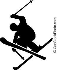 Ski Freestyle Silhouette