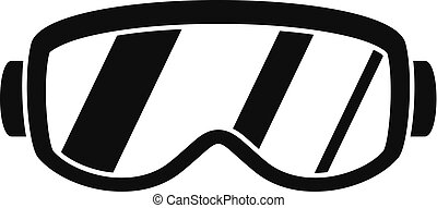 Ski glasses icon, simple style