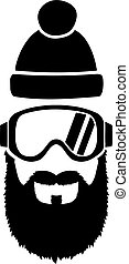 Ski Goggles Full Beard