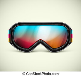 Ski Goggles - Isolated ski goggles, eps 10