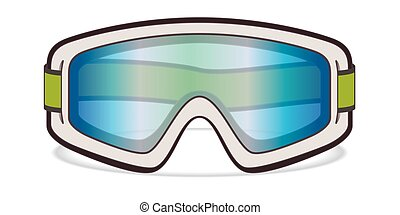 ski goggles, white on white background
