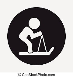 ski, icône