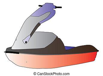 ski jet water sport vector silhouet