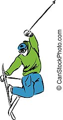 ski jumping 2 illustration