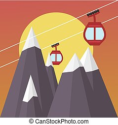 Ski Lift Gondola