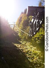 Ski lift in the autumn season, black forest