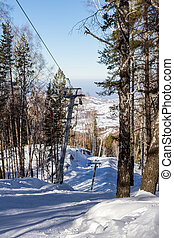 ski lift in the ski resort