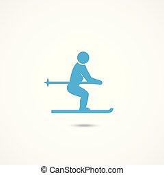 Ski man icon
