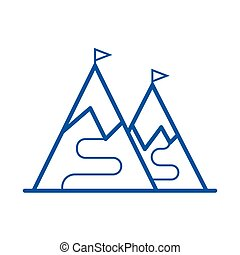 Ski Mountain Icon