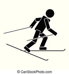 Ski race. Flat icon