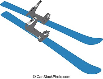 Ski realistic vector illustration isolated