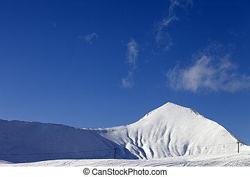 Ski resort at sunny day