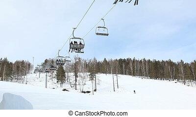 ski resort at the mautain