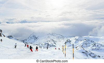 Ski resort. Austria - Winter landscape - Ski resort Zell am...