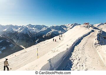 Ski resort Bad Gastein in winter