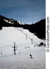 Ski Resort Beginner Hill with Girl