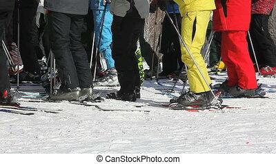 ski resort crowd