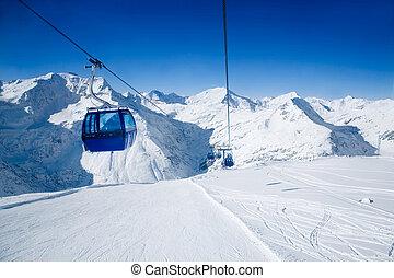 Ski resort in Austrian alps, Bad Gastein