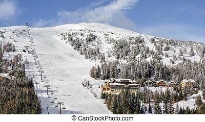 Ski resort in Austrian Alps